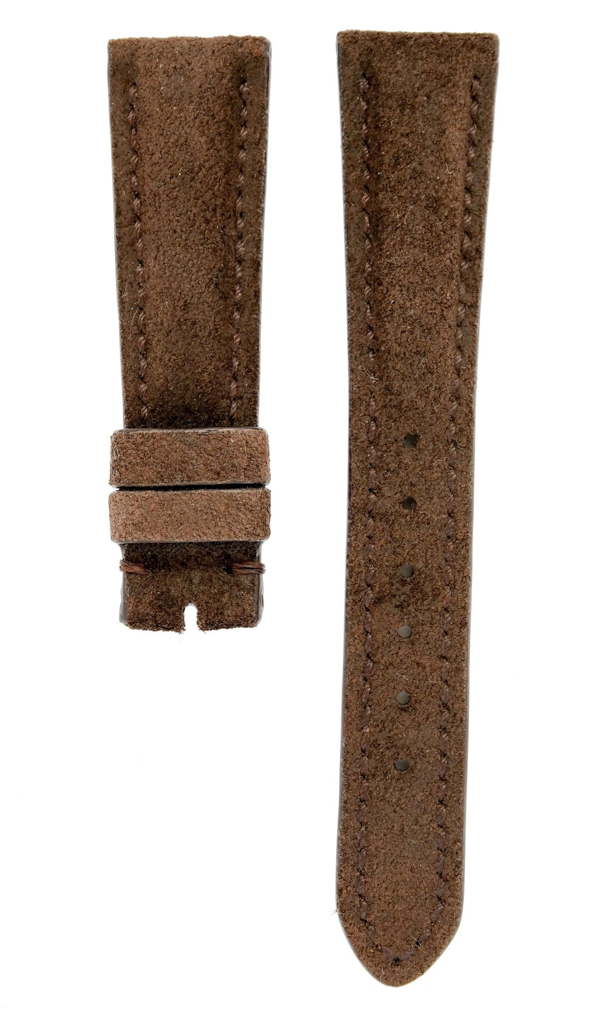 9f410075a Suede Leather Watch Strap - Brown -