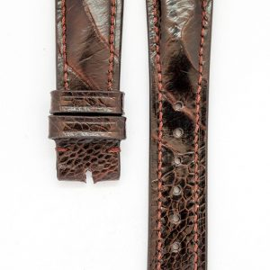 red-brown-ostich-skin-watchstrap