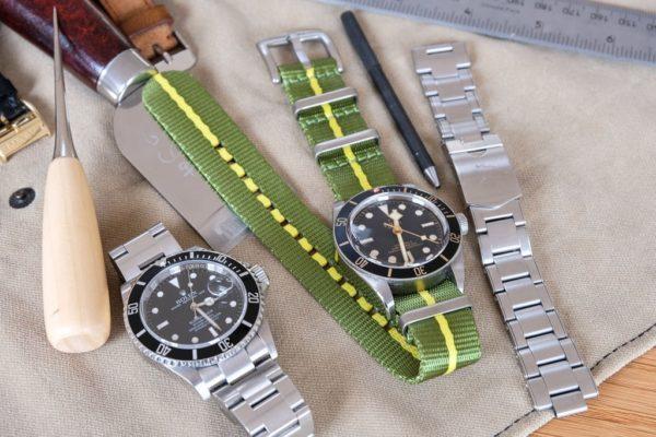 premium-nato-strap-green-pin-style