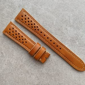 tan french calfskin rally watch strap