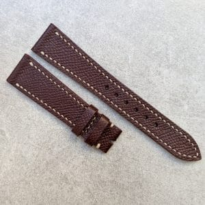 epsom calfskin red brown