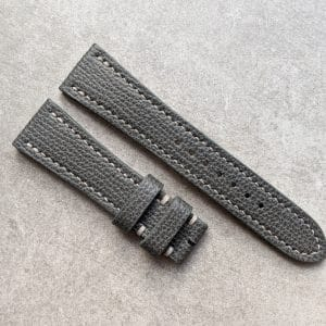 italian grained calfskin - graphite