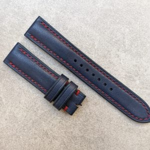 blue-watch-strap-red-stitching