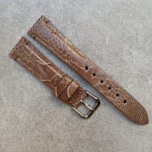 ostrich-watch-strap-light-brown