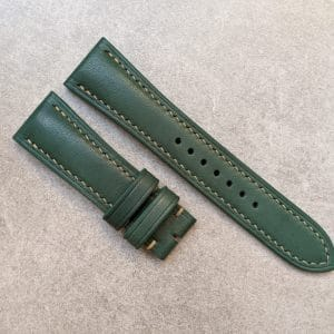 french calfskin watch strap green
