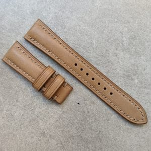 french calfskin watch strap natural tan